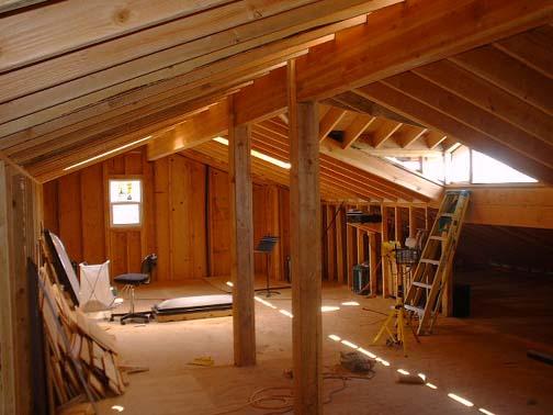 Integral construction netzero energy design attic addition
